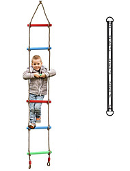 cheap -Rainbow Plastic Six-Section Climbing Rope Ladder for Kids,Hanging Ladder for Swing Set-Tree Ladder Toy for Children,Climbing Ladder Fitness Toy Exercise Equipment