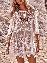 cheap -Women's A Line Dress Short Mini Dress Long Sleeve Solid Color Spring Summer Vacation Loose 2021 One-Size