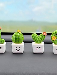 cheap -Set of 4pcs Decorative Objects Resin Modern Contemporary Waterproof for Home Decoration Gifts Love Shape Cactus