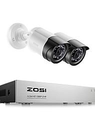 cheap -ZOSI 8CH 1080P Security Video DVR Kit 2MP Camera CCTV Surveillance System Night Vision Waterproof HDD Hard Disk Drive 2TB Motion Detection Remote Access TVI CVI AHD Analog