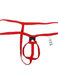 cheap -Men's Basic G-string Underwear Stretchy Low Waist Royal Blue M