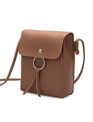 cheap -Women's Bags PU Leather Crossbody Bag Plain Classic Fashion Shopping Daily 2021 Messenger Bag Black Red Blushing Pink Brown