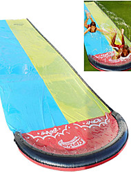 cheap -Slip and Slides for Kids, 4.8M Giant Splash Sprint Water Slide, Double Lawn Waterslide for Backyard Garden Outdoor Summer Water Party Watersports with Build in Sprinkler