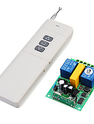 cheap -433Mhz AC 220V 2ch RF Wireless Remote Control Motor Switch 2CH Receiver  Transmitter For Motor Garage Door Projection Screen