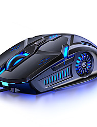 cheap -6d dazzling glowing 1.42m wired mechanical e-sports gaming mouse 3200dpi optical computer mause for laptop desktop gamer office