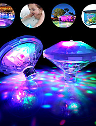 cheap -Outdoor Underwater RGB Light 2-Pieces Set Submersible LED Disco Party Lamp Battery Operated Hot Tub Spa Lights Baby Bath Light Swimming Pool Glow Show Atmosphere Lights