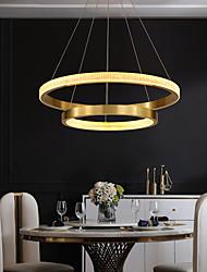 cheap -LED Pendant Light 2 Rings Gold 60 cm Circle Desgin Pendant Light Aluminum Electroplated 110-120V 220-240V