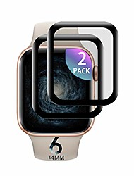 cheap -Smartwatch Screen Protector  iwatch tempered glass protective film, [2 pieces] screen protector for apple watch Smartwatch Screen Protector  3d touch tempered glass for apple watch series 4/5/6 44mm
