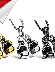cheap -Boxing Pendant Necklace Gloves Punk Trendy Rock Alloy Silver 60 cm Necklace Jewelry 1pc For