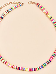 cheap -Women's Necklace Colorful Fashion Boho Resin Alloy Rainbow 40 cm Necklace Jewelry 1pc For