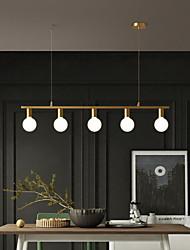 cheap -LED Pendant Light Island Light Modern Gold For Dining Room 70/100/120cm Copper Dining Room Decoration Light 3/5/6 Lamps Holder E27 Adjustable