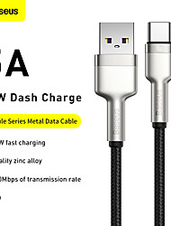 cheap -BASEUS USB C Cable High Speed Quick Charge 5 A 2.0m(6.5Ft) 1.0m(3Ft) TPE For Samsung Xiaomi Huawei Phone Accessory