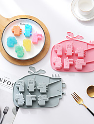 cheap -6-Grid Ice Tray Cake Mold Dinosaur Shape 2-Piece Set Silicone Mold Cake Complementary Food Rice Cake Dessert Ice Cube Chocolate Mold