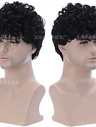 cheap -halloweencostumes amazon cross-border new products european and american wigs hair black chemical fiber wigs hair cover manufacturers spot wholesale