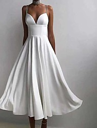 cheap -Women's Swing Dress Maxi long Dress White Black Purple Red Green Sleeveless Solid Color Backless Summer cold shoulder Casual Sexy 2021 S M L XL