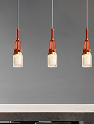 cheap -LED Pendant Light Red Bedside Light Island Light Copper Metal Leather Acrylic Nordic Style Bedroom Living Room Dining Room Warm White Cool White 4W