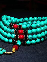 cheap -turquoise bracelet 108 bead bracelet for women men