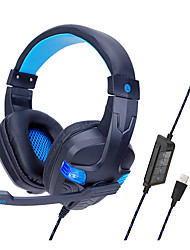 cheap -SOYTO SY860MV Gaming Headset USB Wired Ergonomic Design RGB Lights InLine Control for Apple Samsung Huawei Xiaomi MI  PC Computer Gaming