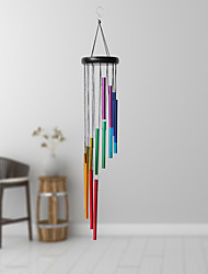cheap -Metal Wind Chimes Outdoor with 14 Colorful Aluminum Alloy Tubes Tone Wind Chimes for Patio Porch Backyard Decoration