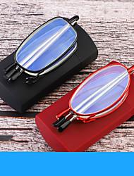 cheap -Folding Portable Belt Box Reading Glasses Antenna Glasses Telescopic Mirror Legs Anti-blue Light Reading Glasses For Men And Women