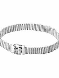 cheap -pandora reflections sparkly clasp sterling silver bracelet 19cm