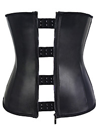 cheap -Corset Women's Plus Size Bustiers Corsets Casual / Daily Underbust Corset Classic Tummy Control Fashion Solid Color Zipper Hook & Eye Nylon Polyester / Cotton Christmas Halloween Wedding Party / Club