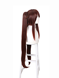 cheap -yuanshen walnut cosplay wig brown and black face shape cos game anime fake found goods