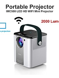 cheap -IMC500A New Model 2000LM LED LCD Projector Android Porjector for Entertainment and Home Education Halloween Christmas Party Support 1080P 4K Video