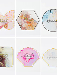 cheap -Crystal Agate Phnom Penh Resin Nail Art Decoration Painting Palette Nail Accessories Display Board Professional Tools