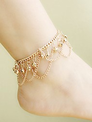 cheap -Anklet Stylish Simple Women's Body Jewelry For Date Festival Alloy Gold 1pc