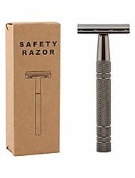 cheap -double edge safety razor wet shaving kit for men women with 10 pieces platinum blade