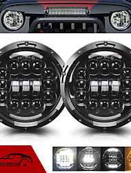 cheap -OTOLAMPARA 400W LED Headlight Special for Suzuki/ Mazda/ Jeep/ Land Rover 7 Inches SUV Headlamp H4 High Low Beam Kit IP68 Waterproof 2pcs