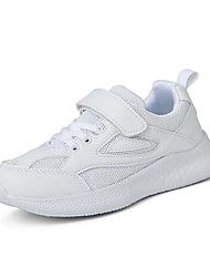 cheap -spring children's white shoes boys and girls sports shoes 2021 new middle-aged children's primary school students breathable leather children's shoes