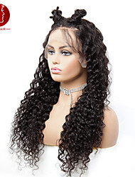 cheap -water wave wigs, africa, europe and the united states, small rolls, front lace, real wigs, human hair