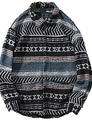 cheap -men autumn winter warm wool flannel shirt velvet silk plaid vintage striped streetwear
