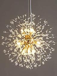 cheap -LED Pendant Light Crystal Chandelier Dandelion Design 9-light Firework Modern Sputnik Chandelier Pendant Light Fixture For Bedroom Living Room Dining Room