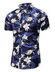 cheap -plus size 5xl 6xl 7xl men's short sleeve floral shirt summer fashion casual hawaiian shirt male brand 210522