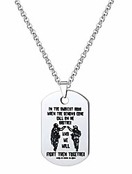 cheap -detailed soldier brother keychain necklace in the darkest hour when the demons come call on me brother and we will fight them together