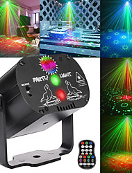 cheap -60 Patterns RGB Stage Lights Voice Control Music Led Disco Light Party Show Laser Projector Lights Effect Lamp with Controller(Rechargeable)