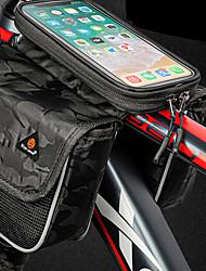 cheap -2.85 L Bike Frame Bag Top Tube Reflective Waterproof Portable Bike Bag Oxford Cloth PVC(PolyVinyl Chloride) Bicycle Bag Cycle Bag Outdoor Exercise Bike / Bicycle
