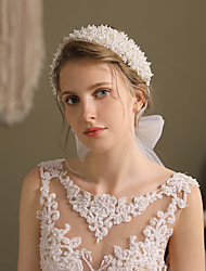 cheap -Glam Cute Imitation Pearl Headbands with Imitation Pearl 1 pc Wedding / Party / Evening Headpiece