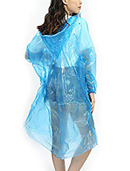 cheap -Rain Poncho Waterproof Hiking Jacket Rain Jacket Outdoor Waterproof Quick Dry Lightweight Breathable Raincoat Poncho Top Camping / Hiking / Caving 65 grams of new material PE [orange] 65 grams of new