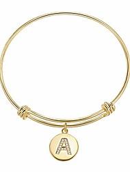 cheap -initial letter bracelets - capital letter bracelets 18 k gold plated handmade exquisite personalized name women bracelets
