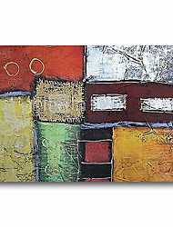 cheap -Oil Painting Handmade Hand Painted Wall Art Abstract Green Brown Home Decoration Dcor Stretched Frame Ready to Hang