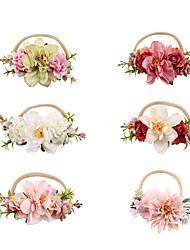 cheap -Kids Baby Girls' Fashion Simulation Fabric Flower Nylon Children's Hair Accessories Soft Nylon Baby Photo Props Baby Headwear