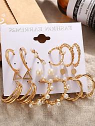 cheap -Earrings Set Stylish Elegant European Sweet Imitation Pearl Earrings Jewelry Gold For Party Evening Street Prom Date Festival