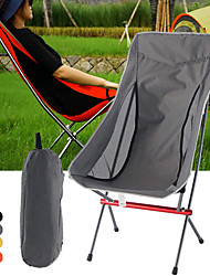 cheap -Camping Chair High Back with Headrest Portable Ultra Light (UL) Foldable Breathable Oxford Cloth 7075 Aluminium Alloy for 1 person Fishing Beach Camping Autumn / Fall Winter Black Yellow Grey Orange