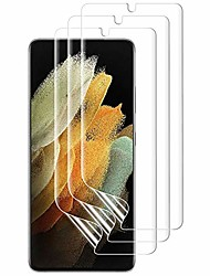 cheap -Phone Screen Protector For SAMSUNG S21 S21 Plus S21 Ultra S20 S20 Plus Hydrogel Film 3 pcs High Definition (HD) Ultra Thin Scratch Proof Front Screen Protector Phone Accessory