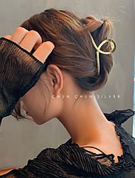 cheap -korean version of dongdaemun shark catching clip metal hair clip large hair accessories clip hairpin back head headdress female net red
