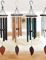 cheap -Solid Wood 30 Inch Music Metal 6 Pipe Wind Chime for Home Outdoor and Garden decoration 1pc